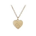 VENI MASEE Latest Fashionable Pet Dog Paw Heart Print Pendant Chain Necklace Gold Silver