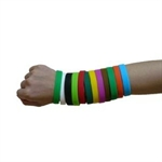 (Price/piece)GOGO Blank Silicone Wristbands, silicone rubber wristbands