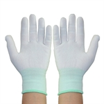 Factory Industry Anti-static Work Nylon Knit Gloves for Finger Protection,12 pairs/set,Size of S/M/L