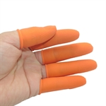 Non Slip Disposable Rubber Finger Cots Protectors Powder Free,Size of S/M/L,300pcs/set,Color for Orange