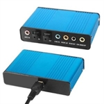 HOTER External Sound Card USB 6 Channel 5.1 Audio