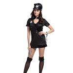 Ladies Sexy Women's Policeman Uniform Halloween Fancy Dress Costume