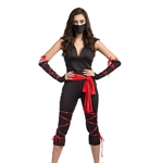 Ladies Sexy Epidemic Prevention Worker/ Ninja Assassin Halloween Fancy Dress Costume