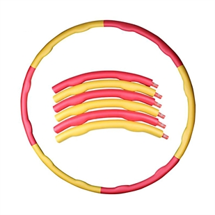 CATO&#8482 Weighted 1.35kg 2 Line Foam Covered Exercise Hula Hoop, Red + Yellow