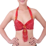 VENI MASEE Belly Dancing Bead Embroidered Bra Top With Pendants, Belly Dancing Costume & Accessories, Price/Piece