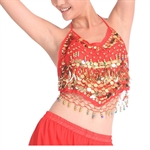 VENI MASEE Belly Dancing Gold Sequined Bra Top With Pad, Belly Dancing Costume & Accessories, Price/Piece