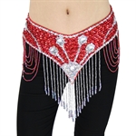 VENI MASEE Belly Dancing Deluxe V-hape Stretch Belt With Short Tassel, Belly Dancing Costume, Price/Piece
