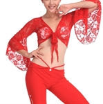 VENI MASEE Exquisite Belly Dancing Elegant Lace Top, Belly Dancing Costume, Price/Piece