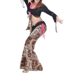 VENI MASEE Belly Dancing High Quality Leopard Pattern Costume Set--Top Bra & Pants, Belly Dancing Costume, Price/Set
