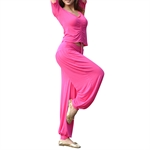 VENI MASEE Dancing/Yoga Practice Pure Cotton Costume Set--Top Bra & Pants, Dancing Costume, Price/Set