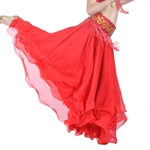 VENI MASEE Belly Dance Elegant Three-layered Chiffon Skirt, Colors Available, Price/Piece