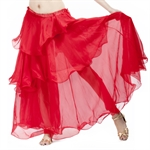 VENI MASEE Belly Dance Elegant Chiffon Spiral Design Skirt, Colors Available, Price/Piece