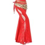 VENI MASEE Belly Dance Elegant Side Split Pants Fringed With Lace, Colors Available, Price/Piece