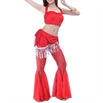 VENI MASEE Belly Dance Shinning Cloth Costume Set--Top Bra & Pants, Belly Dancing Costume, Price/Set