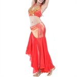 VENI MASEE Belly Dance Sexy Fishtail Design Costume Set--Top Bra & Skirt, Belly Dancing Costume, Price/Set