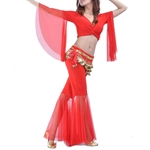 VENI MASEE Belly Dance Muslin Costume Set--Top Bra & Lotus Pants, Belly Dancing Costume, Price/Set
