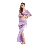 VENI MASEE Gauze Horn Sleeve Belly Dancing Costumes Set--Top & Pant, With Top Grade Printing , Price/Set