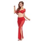 VENI MASEE Sexy Gauze Belly Dancing Comfortable Dancing Costumes Set--A Four-Piece, Price/Set