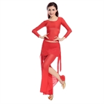 VENI MASEE Gauze Long Sleeve Belly Dancing Comfortable Dancing Costumes Set, Price/Set