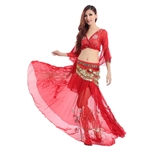 VENI MASEE Belly Dancing Embroidery Dancing Costumes Set, A Three-Piece, Price/Set