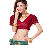 VENI MASEE Belly Dancing Sexy Dancing Top, Comfortable Material, Price/Piece