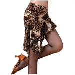 VENI MASEE Leopard Grain Latin Adult Skirt, Sexy Dancing Short Skirt, Price/Piece