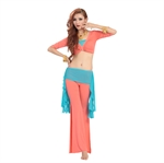 VENI MASEE Gauze Soft Belly Dancing Costumes Set--Top & Pant, With Wrap , Price/Set
