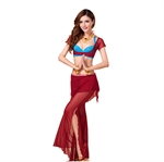 VENI MASEE Gauze Belly Dancing Costumes Set--A Three-Piece , Price/Set