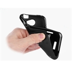Hoter® S-Line Back Flexible TPU Case For HTC One X  With Three Layers Of Screen Protector