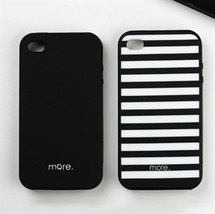 HOTER® More ColorDuo Apple iPhone 4 3G/3GS Silicon Lovers Case