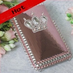 HOTER® Bling Luxurious Pink Princess Design Diamond Crystal Snap-on Case for Apple iPhone 4 3G/3GS