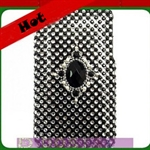 HOTER® Bling Black & White Luxurious Design Diamond Crystal Snap-on Case for Apple iPhone 4 3G/3GS