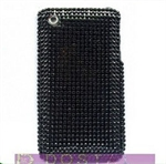 HOTER® Bling Black Design Diamond Crystal Snap-on Case for Apple iPhone 4 3G/3GS