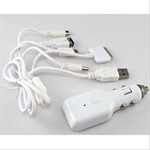 HOTER® 5 in 1 Car Charger Set with 220V Power for Apple iPad iPhone