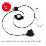 HOTER® Apple iPad iPod iPhone 4 3G/3GS Touch Nano Classic Retractable USB Line