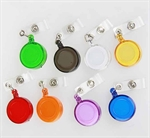 Retractable Translucent ID Card Reel/Key-ID-Badge With Metal Slide Belt Clip, 11 Colors For Choose, Sold Individually