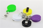 Wholesale Retractable Solid ID Card Reel/Key-ID-Badge With Metal Slide Belt Clip, Assorted Colors