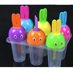 Hoter Cylindrical Rabbit Ice Pop Molds, Set Of 6