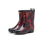 HOTER Latest Fashionable Stylish Glitter Floral Lady Rain Boots Skidproof/Waterproof Rainy Day/Garden Work/Outdoor Activities