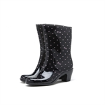 HOTER Latest Fashionable Stylish Glitter Lady Medium Heel Rain Shoes Skidproof/Waterproof Rainy Day/Outdoor Activities