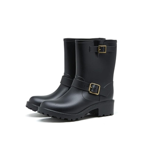 HOTER Latest Fashionable Stylish Lady Martin Rain Shoes Skidproof/Waterproof Rainy Day/Outdoor Activities