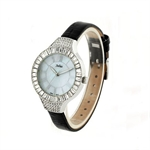 Julius Luxurious Crystal Shining Night-light Lady Watch JA-445