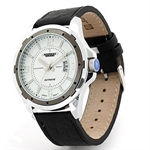 Julius Night-light Man leather Wrist Watch with Calendar JAH-006