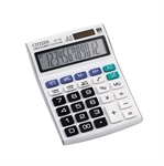 VENI MASEE 12 Digits Standard Function Desktop Dual Power Solar Calculator, AA Battery, Daily Office Business, Gift, White