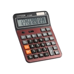 VENI MASEE 12 Digits Large Size Standard Function Desktop Dual Power Solar Calculator, AA Battery, Daily Office Business, Gift, Red and Black