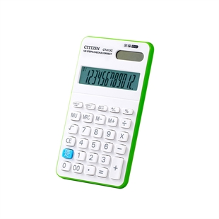 VENI MASEE 12 Digits Handheld Standard Multifunctional Desktop Solar Calculator, Button Battery, Daily Office Business, Gift, Green