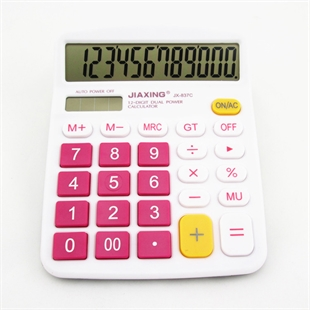 VENI MASEE 12 Digits Fashionable Cute Desktop Dual Power Solar Calculator, AA Battery, Daily Office Business, Gift, 3 Colors