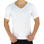 HOTER® Mens Super Soft Compression & Slimming Shaper V-Neck T-shirt