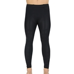 VENI MASEE Men's Dual Compression Fit Sports Leggings Under Tights, Black