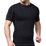 VENI MASEE® Outdoor Mens Body Shaper Quick Dry Short Sleeve Shirt